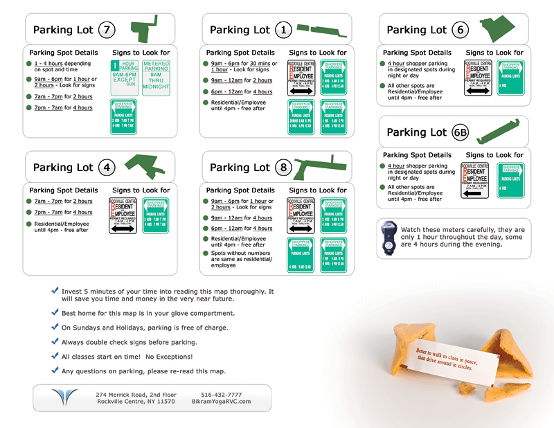Rockville Centre, Long Island Parking Map