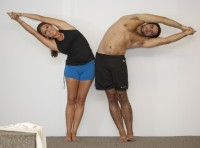 Bikram Yoga Half Moon Pose