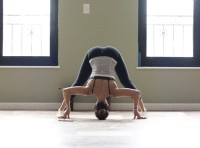 Bikram Yoga Standing Separate Leg Stretching Pose